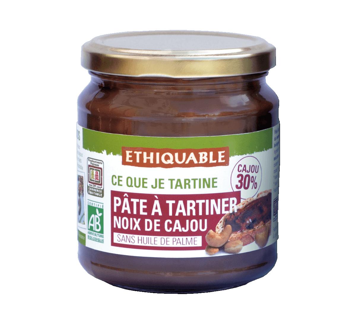 Pâte à tartiner cajou bio issue du Commerce Equitable I Ethiquable